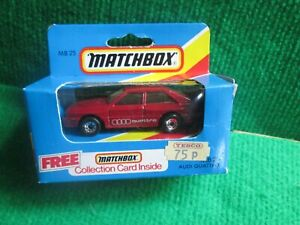 MATCHBOX MB25 AUDI QUATTRO (LOT F62) CAR MINT BOX OPENED