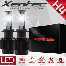 XENTEC 488W Cree LED Headlight Kit H4 9003 Hi/Lo beams 6000K Bulb Pair 48800LM