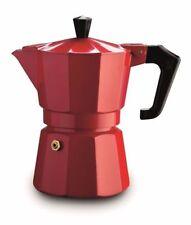 Pezzetti Italian Stove top espresso coffee maker percolator 6 cup Coffee Red