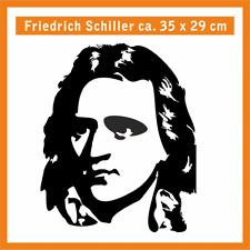 FRIEDRICH SCHILLER Wandtatoo, ca. 35 x 25 cm, Hochleistungsfolie mit Montagep.