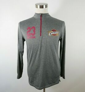 NBA Cleveland Cavaliers Lebron James Mens LS 1/4 Zip Gray Shirt U Brand Small