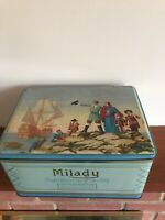 LARGE Vintage Milady Waller & Hartley Tin Confectionery Biscuit RARE Collectors