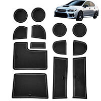 The Ultimate Winter Mats TuxMat Custom Car Floor Mats for Subaru WRX//WRX STI 2015-2019 Models/ - Laser Measured Full Set - Bla Waterproof All Weather Largest Coverage Also Look Great in the Summer./ The Best/ Subaru WRX//WRX STI Accessory.