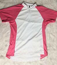 Bontrager Solstice Women's Size Medium Jersey Quarter Zip White and Pink