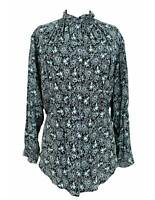 Max Mara Shirt Vintage Soft Floral Silk Green Black