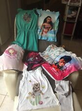 LOT VETEMENTS ETE - FILLE 8 Ans - Tee Shirts Maillot De Bain 1 Robe 1 Legging