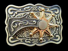 Cool Western Cowboy Rodeo Spinning Spur Belt Buckle Boucle De Ceinture