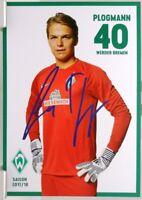 Luca Plogmann + Autogrammkarte 2017/2018 + Werder Bremen + AK2018139 +