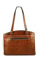 Patricia Nash Burnished Tooled Floral Poppy Florence Brown Leather Tote Bag