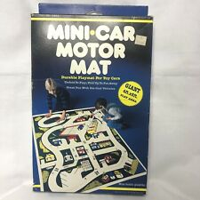 VTG 1981 Mini-Car Motor Mat plastic giant play city Map Hoy's Toys Rare