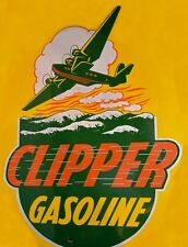 "TIN SIGN ""Clipper""   Gas-Oil   Signs  Rustic Wall Decor"