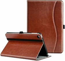 Ztotop iPad Mini 4 Leather Folio Stand Protective Case Smart Cover Brown