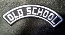 old school Rocker embroidered 3.75 x 1.0 mc Biker patch