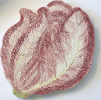 Red Cabbage Display Plate Charcuterie Coaster  Italy Handpainted Majolica