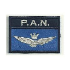 [Patch] PAN AERONAUTICA MILITARE P.A.N. versione argento cm 7 x 5 ricamo -168