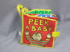 Jelly Kitten Children'S Book Peek A Bye Baby Story Plush Rattle Crinkle Squeaks