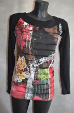 ENTRE PULL ET TOP TUNIQUE  DESIGUAL TAILLE M/38  DRESS SHIRT/CAMISA/CAMICIA