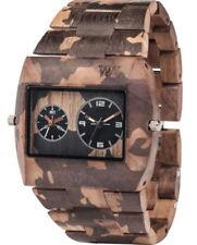 Orologi da polso Dual Time uomo con cinturino in legno