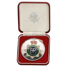 UK Merseyside Police Silver-plated Medal with official Leather Presentation Box