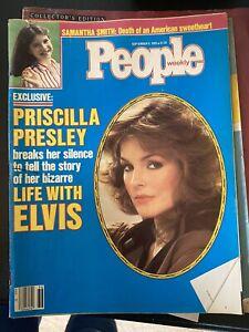 People Weekly Magazine Priscilla Elvis Presley  September 9, 1985 Family Life