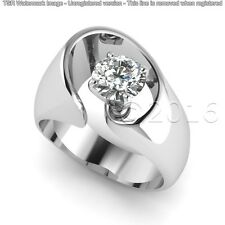 1.70 CT Off White Round Moissanite Ring Unique Engagement Ring 925 Silver A00