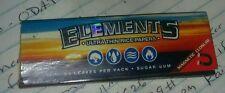 Elements 1 1/4 wide Rice  cigarette rolling papers sugar gummed. 3 packs.