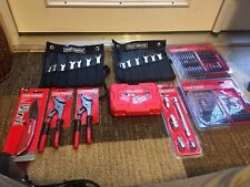LARGE LOT OF CRAFTSMAN TOOLS WRENCHES,  SOCKET SET, DRILL, &' SCREWDRIVER BITS