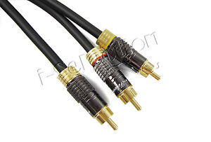 Premium Subwoofer Audio Cable 1 RCA to 2 RCA Y Splitter Cord Gold Plated 0.5~15m