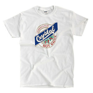 Crystal Hot Sauce White T-Shirt - Ships Fast! High Quality!