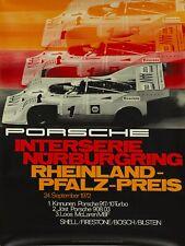 ORIGINAL 1972 PORSCHE POSTER 917/10 TURBO NÜRBURGRING 101x76cm Plakat Strenger