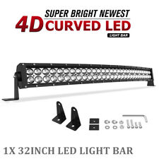 Curved LED Light Bar 34''inch Spot Flood Driving Offroad Bumper Truck 4X4 ATV 32