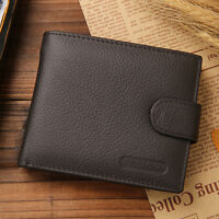 Men Genuine Real Leather Bifold Wallet ID Credit Card Photo Holder Coins Purse s