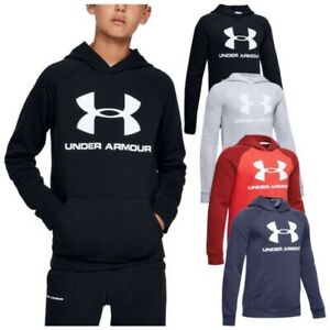 Under Armour Junior Boys Rival Logo Hoodie UA Youth Kids Sports Pullover Fleece