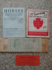 Vintage Horse Racing Ephemera 1940s 50s.Gate Permit.Pony Express.Batavia Downs