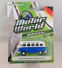 Greenlight Motor World German Volkswagen Samba Bus Blue Series 10 NIP 2013 1:64