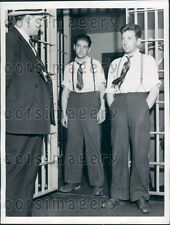 1942 Admitted Hitch Hiking Killers Jackson County Jail MO Press Photo