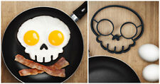 New - Fred Funny Side Up Skull Silicone Egg Art Mould Funny Breakfast
