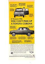 1965 TOYOTA CORONA  ~  NICE ORIGINAL PRINT AD