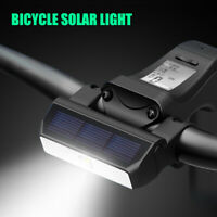 Bicycle Light Solar Energy Charging IPX6 Waterproof MTB Road Bike Headlight UK