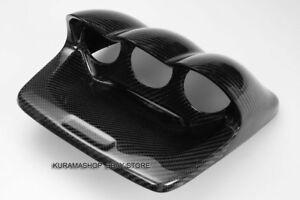 Fit Subaru Impreza WRX STi GDF GDG Carbon Fiber 60mm Triple Gauge Pod Holder