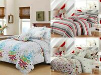LUXURY PRINT COLLECTION DUVET COVER SET WITH PILLOW CASE QUILT SETS BEDDING