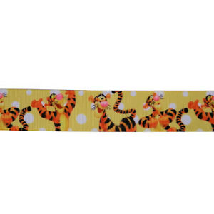 "Disney Tigger Cartoon Grosgrain Ribbon 7/8"" / 22mm x 1 Meter"
