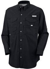 Columbia Bonehead Long Sleeve Collared Shirt - Medium - Black