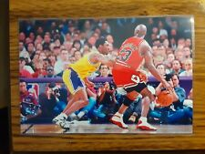 New listing Michael Jordan Bulls Kobe Bryant Lakers Basketball 4x6 Game Photo Picture Card