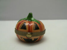 Rochard Limoges Peint Main Pumpkin Trinket Box France