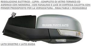 SPECCHIO RETROVISORE ELETTRICO RIB 12PIN SINISTRO 800503 FORD MONDEO 2010 2014