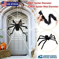 "Outdoor Spider Halloween Decor Haunted House Prop Home Yard Party 59"" US"