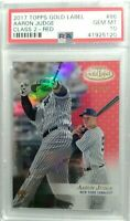 2017 Aaron Judge Topps Gold Label RED #46/50 Rookie RC  PSA 10  GEM  SUPER RARE