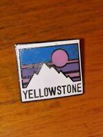 Vintage Ski Yellowstone Snow Wyoming USA Lapel Pin Pinback Hat Travel Mountain