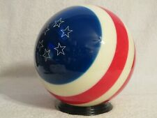 Undrilled Ebonite Patriotic Yankee Doodle Red White Blue Bowling Ball 11.5 lbs
